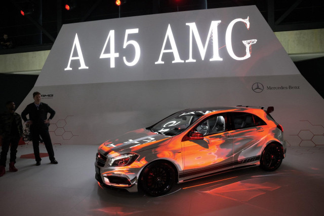 Mercedes-Benz-A-45-AMG-Edition-1-and-Usher-at-2013-Geneva-Motor-Show-1